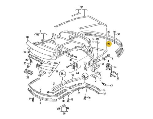 Oryg Uszczelka Dachu Tylna Audi Cabrio 92 00 Volkswagen Classic